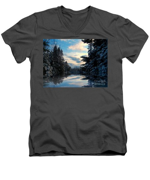 Looking Glass Men's V-Neck T-Shirt by Elfriede Fulda