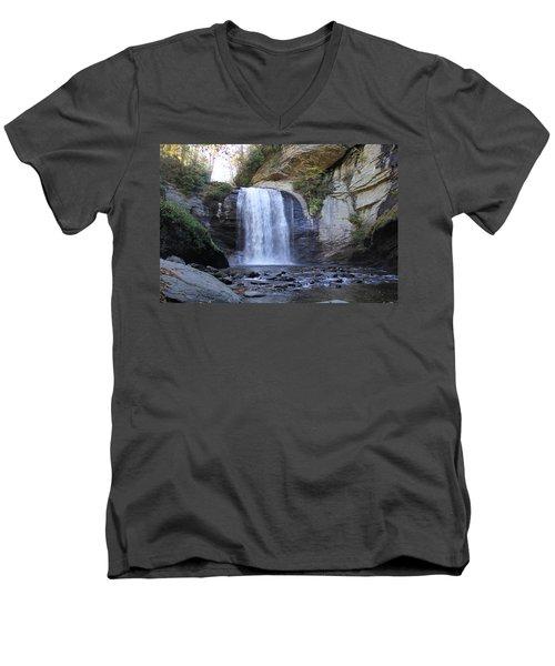 Looking Glass Falls Men's V-Neck T-Shirt