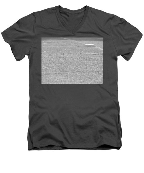 Looking In To Third Base Men's V-Neck T-Shirt