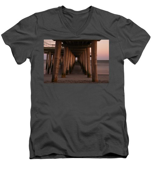 Men's V-Neck T-Shirt featuring the photograph Looking Into Infinity by Jennifer Ancker