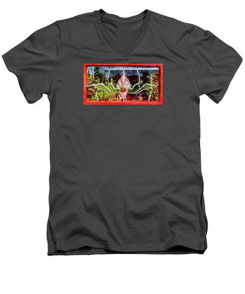 Men's V-Neck T-Shirt featuring the photograph Looking Into The Garden by Thom Zehrfeld