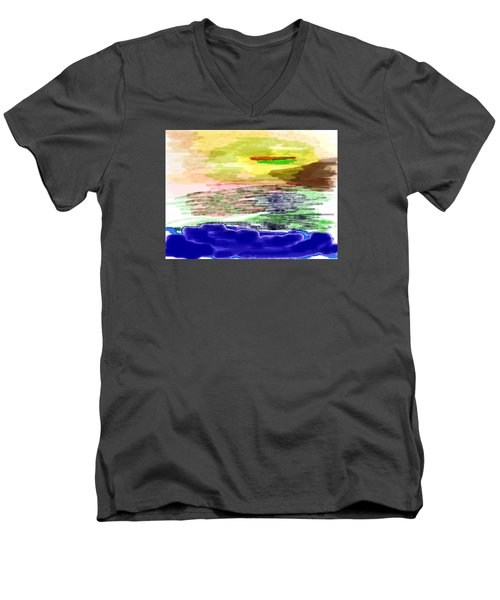 Looking Outward From The Blue Men's V-Neck T-Shirt
