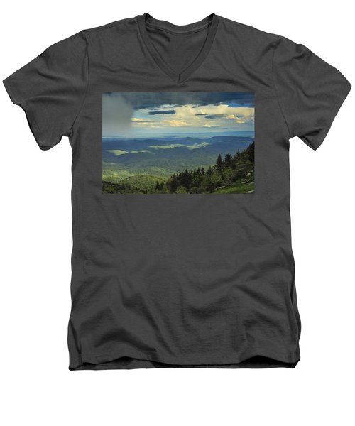 Looking Over The Valley Men's V-Neck T-Shirt