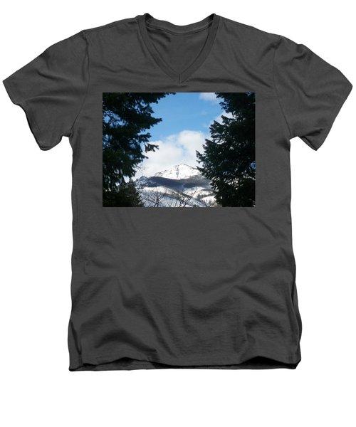 Men's V-Neck T-Shirt featuring the photograph Looking Through by Jewel Hengen