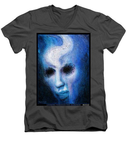 Looking Through The Darkness Men's V-Neck T-Shirt