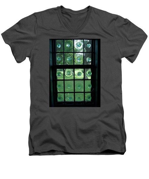 Looking Thru Bubble Glass Window Men's V-Neck T-Shirt by Catherine Gagne