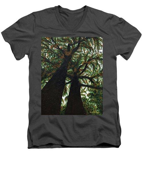 Looking Up Men's V-Neck T-Shirt by Donna Manaraze