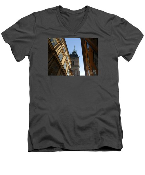 Looking Up From A Stockholm Street Men's V-Neck T-Shirt by Margaret Brooks