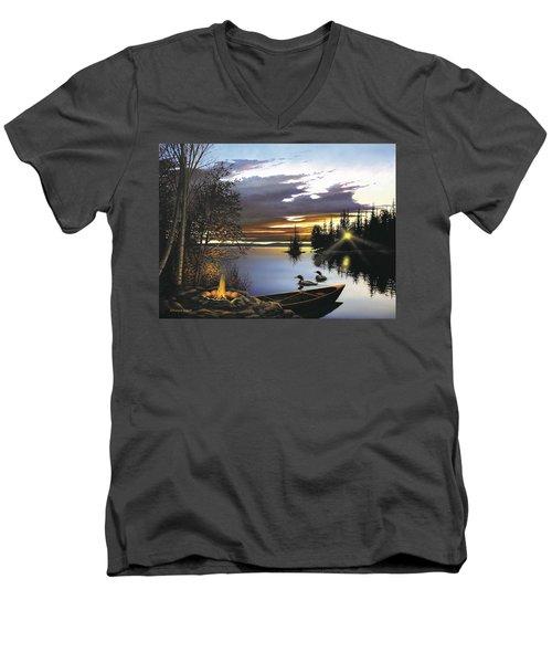 Loon Lake Men's V-Neck T-Shirt