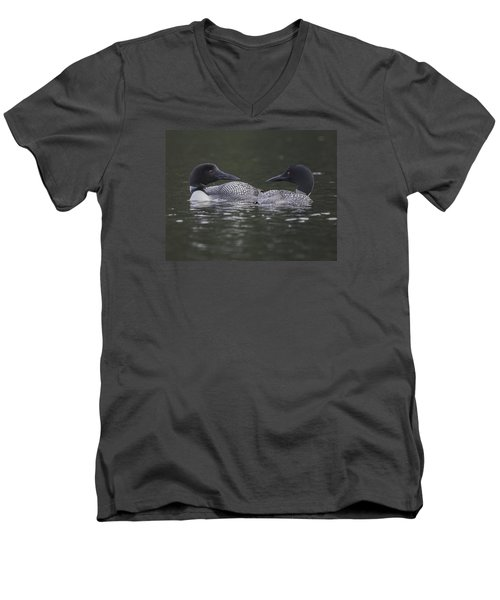 Loon Pair Men's V-Neck T-Shirt