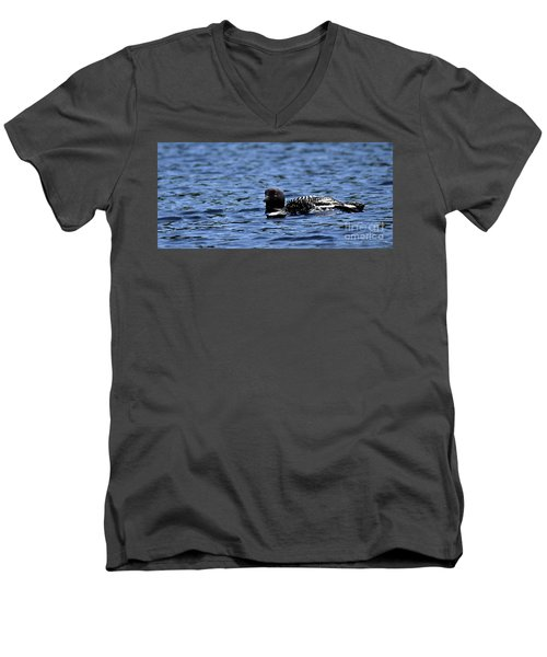 Loon Pan Men's V-Neck T-Shirt by Skip Willits