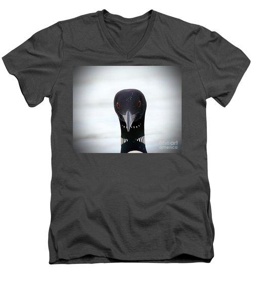 Loon Stare Men's V-Neck T-Shirt