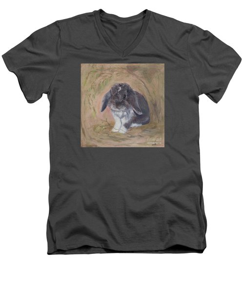 Lop Eared Rabbit- Socks Men's V-Neck T-Shirt