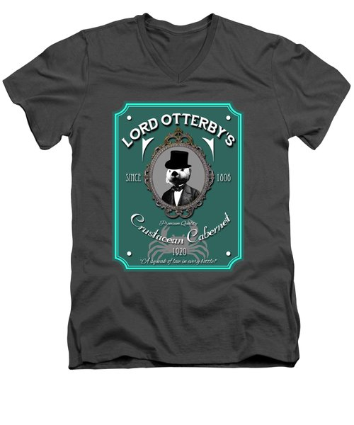Lord Otterby's Men's V-Neck T-Shirt by Eye Candy Creations