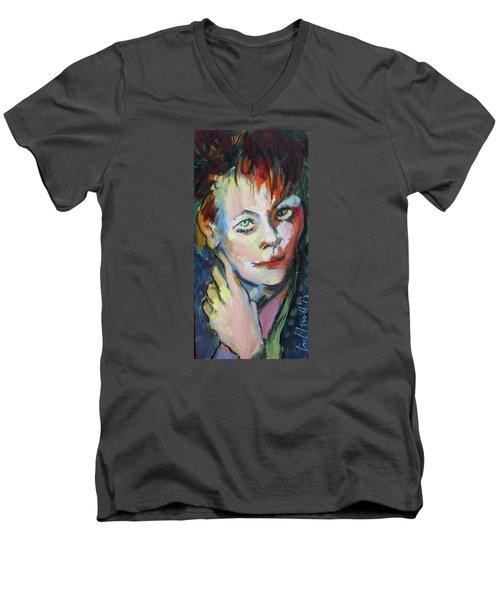 Lori Men's V-Neck T-Shirt by Les Leffingwell
