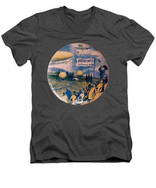 Los Angeles Aviation Contest 1910 Men's V-Neck T-Shirt