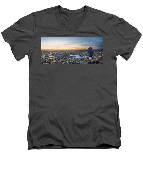 Los Angeles West View Men's V-Neck T-Shirt