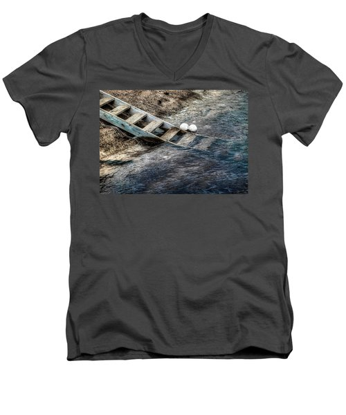 Men's V-Neck T-Shirt featuring the photograph Lost Boys by Wayne Sherriff