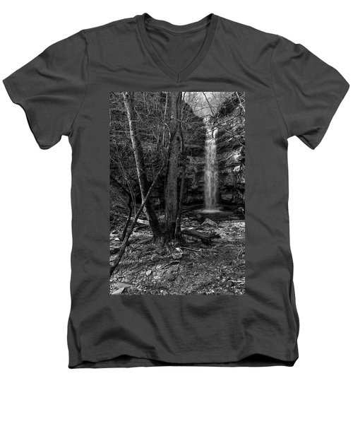 Lost Creek In Black And White Men's V-Neck T-Shirt
