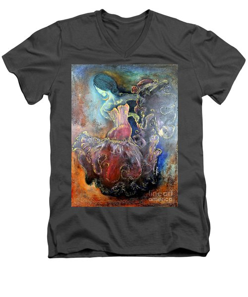 Lost In The Motion Men's V-Neck T-Shirt by Farzali Babekhan