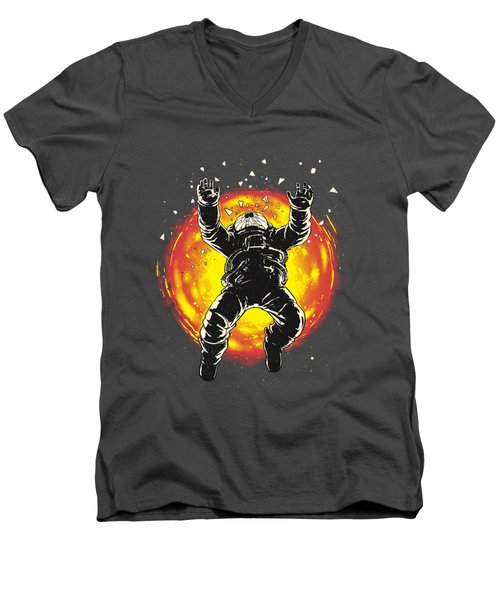 Lost In The Space Men's V-Neck T-Shirt by Carbine