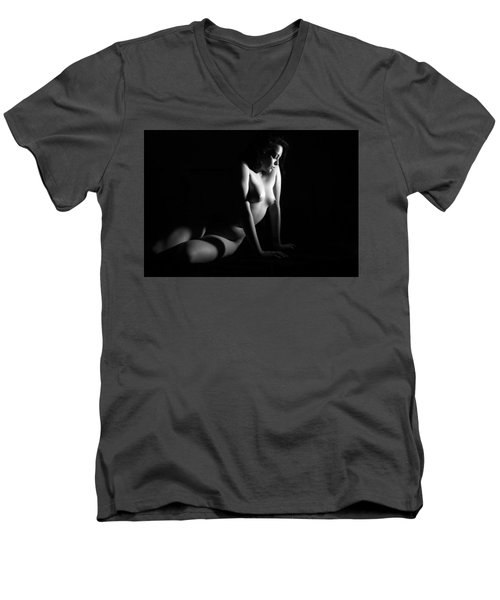 Men's V-Neck T-Shirt featuring the photograph Lost In Thought by Joe Kozlowski