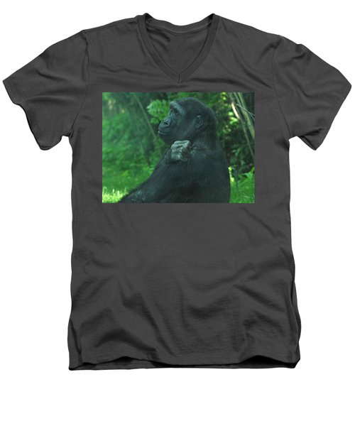 Men's V-Neck T-Shirt featuring the photograph Lost In Thought by Richard Bryce and Family