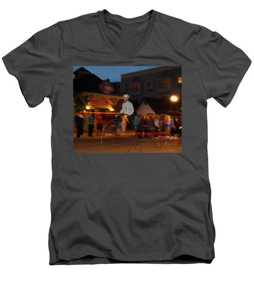 Lost In Time On Mackinaw Men's V-Neck T-Shirt