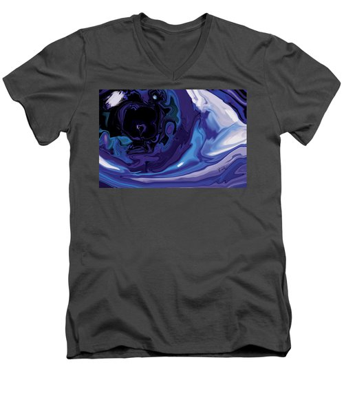 Lost-in-to-the-eye Men's V-Neck T-Shirt by Rabi Khan