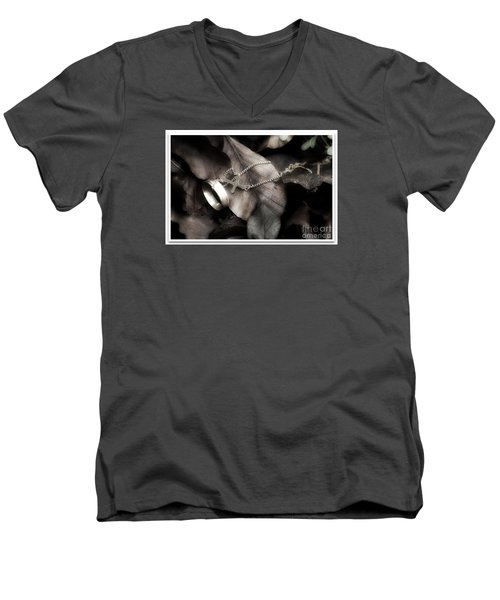 Men's V-Neck T-Shirt featuring the photograph Lost Love by Gary Bridger