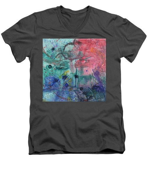 Lost Paradise Men's V-Neck T-Shirt by Phil Strang