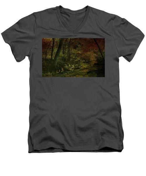 Lost Woods 8140 H_3 Men's V-Neck T-Shirt
