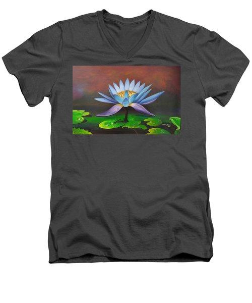 Lotus Blossom Men's V-Neck T-Shirt