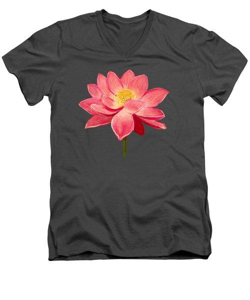 Lotus Flower Men's V-Neck T-Shirt by Anastasiya Malakhova