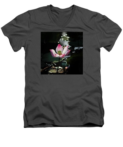 Lotus Flower Men's V-Neck T-Shirt