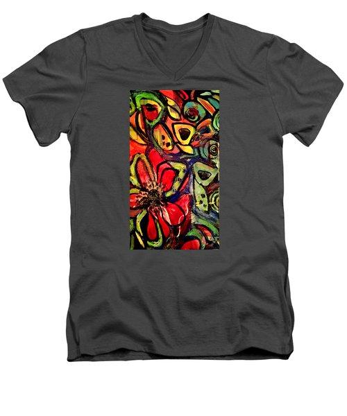 Lotus Men's V-Neck T-Shirt