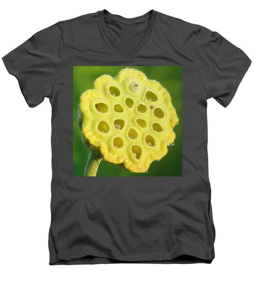 Lotus Pod Men's V-Neck T-Shirt