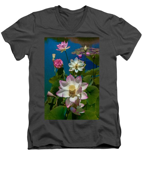 Lotus Pool Men's V-Neck T-Shirt