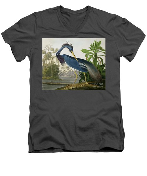 Louisiana Heron Men's V-Neck T-Shirt