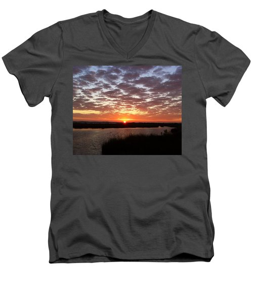 Men's V-Neck T-Shirt featuring the photograph Louisiana Morning by John Glass