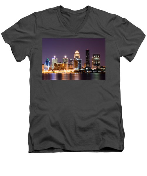 Louisville 1 Men's V-Neck T-Shirt