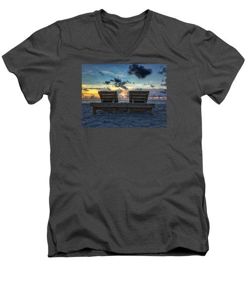 Lounge For Two Men's V-Neck T-Shirt