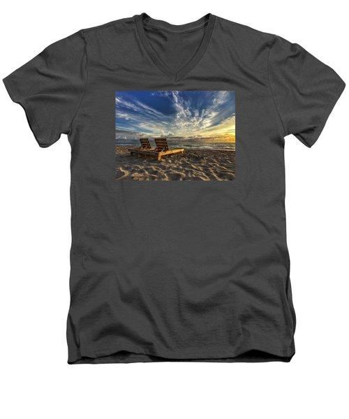 Lounging For 2 Men's V-Neck T-Shirt