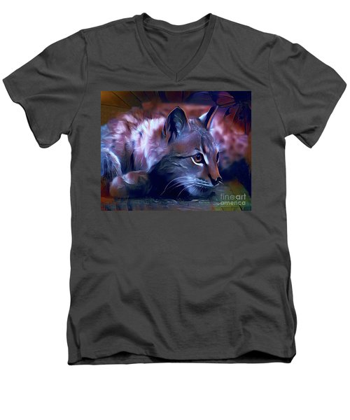 Lovable Feline Men's V-Neck T-Shirt
