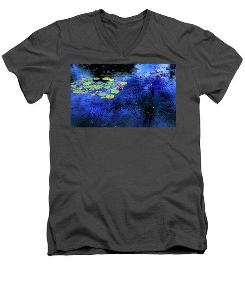 Love A Rainy Day Men's V-Neck T-Shirt by John Poon