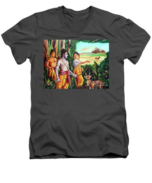 Love And Valour- Ramayana- The Divine Saga Men's V-Neck T-Shirt