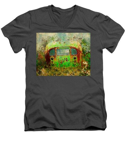 Love Bus Men's V-Neck T-Shirt