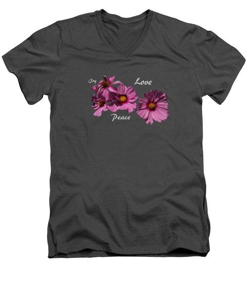 Love Men's V-Neck T-Shirt by David and Lynn Keller