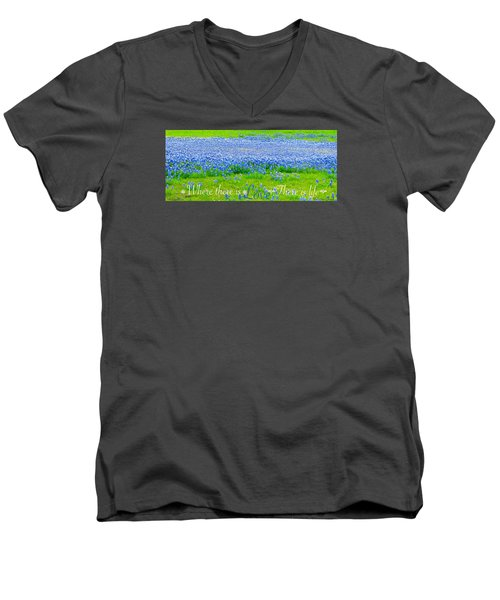 Men's V-Neck T-Shirt featuring the photograph Love by David Norman