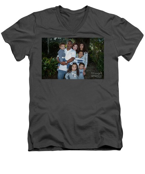 Men's V-Neck T-Shirt featuring the photograph Love Demonstrated 2 James Ingram Family Art by Reid Callaway